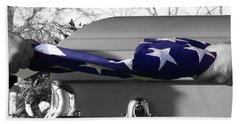 Flag For The Fallen - Selective Color Beach Towel