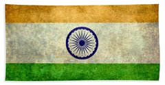 Flag Of India Vintage 18x24 Crop Version Beach Towel