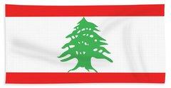 Flag Of Lebanon. Beach Towel