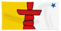 Flag Of Nunavut High Quality Authentic Hd Version Beach Towel