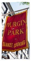 Flag Of The Historic Durgin Park Restaurant Beach Sheet