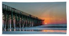 Flagler Pier Sunrise Beach Towel