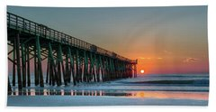 Flagler Pier Sunrise Beach Towel