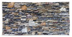 Flagstone Wall Beach Towel