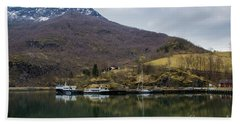 Flam Reflections Beach Towel by Suzanne Luft