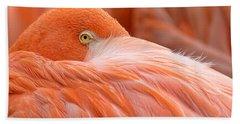Flamboyant Flamingo Beach Towel