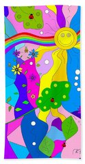 Flamboyant Lion Beach Towel