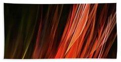 Flame Grass  Beach Towel by Theresa Tahara