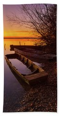 Beach Towel featuring the photograph Flame Of Dawn by Davor Zerjav