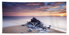 Beach Towel featuring the photograph Flame On The Horizon by Edward Kreis