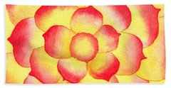 Flame Tip Watercolor Beach Towel