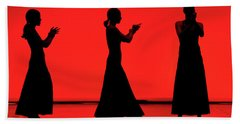 Beach Sheet featuring the photograph Flamenco Red An Black Spanish Passion For Dance And Rithm by Pedro Cardona
