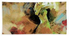 Beach Towel featuring the painting Flamenco 56y3 by Gull G