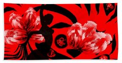 Flamenco-fairy Dance Beach Towel by Dr Loifer Vladimir