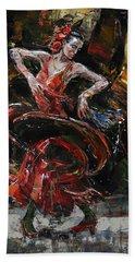Flamenco II Beach Towel
