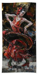 Flamenco II Beach Towel