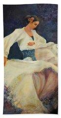 Flamenco In White Beach Sheet