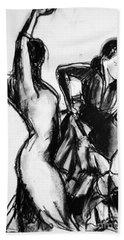 Flamenco Sketch 1 Beach Sheet