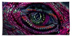 Flaming Dragons Eye Beach Towel