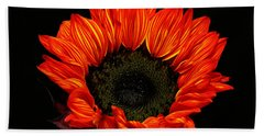 Beach Towel featuring the photograph Flaming Flower by Judy Vincent