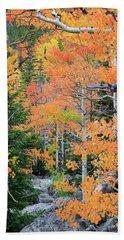 Beach Towel featuring the photograph Flaming Forest by David Chandler