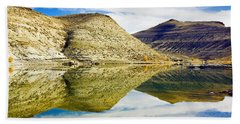 Flaming Gorge Water Reflections Beach Sheet