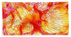 Flaming Hosta Beach Towel