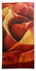 Flaming Rose Beach Towel