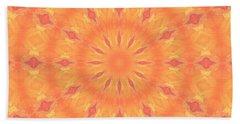 Beach Towel featuring the digital art Flaming Sun by Elizabeth Lock