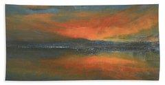 Flaming Sunset Beach Towel