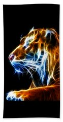 Beach Towel featuring the photograph Flaming Tiger by Shane Bechler