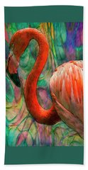 Flamingo 7 Beach Towel