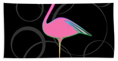 Flamingo Bubbles No 1 Beach Sheet