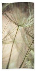 Flamingo Dandelions Beach Towel by Iris Greenwell