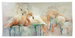 Beach Towel featuring the digital art Flamingo Fantasy by Brian Tarr