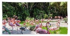 Flamingo Flock Beach Sheet