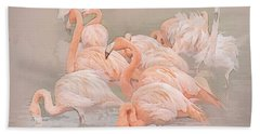 Flamingo Fun Beach Sheet by Brian Tarr