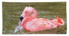 Flamingo Fun Beach Sheet by Kathy White