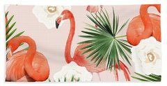 Flamingo Guava Beach Towel