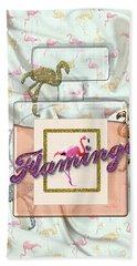Flamingo Beach Towel by La Reve Design