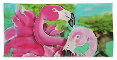 Flamingo Passion Beach Towel
