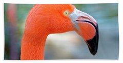 Flamingo Portrait Beach Sheet