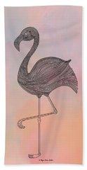Beach Towel featuring the digital art Flamingo1 by Megan Dirsa-DuBois