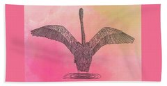 Flamingo2 Beach Towel