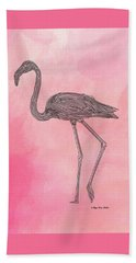 Flamingo3 Beach Towel