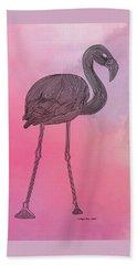 Beach Towel featuring the digital art Flamingo5 by Megan Dirsa-DuBois