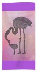 Beach Towel featuring the digital art Flamingo6 by Megan Dirsa-DuBois