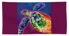 Beach Towel featuring the digital art Flash The Turtle by Erika Swartzkopf