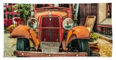 Beach Towel featuring the photograph Flat Bed Ford by Nick Zelinsky