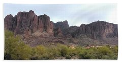 Flatiron Of The Superstition Mountains Beach Sheet